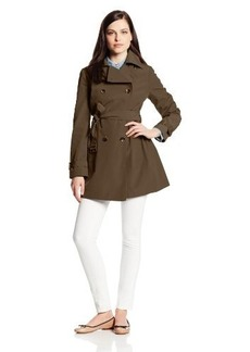 Calvin Klein Women's Double Breatsed Trench Coat