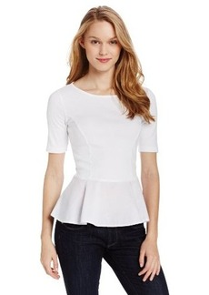 Three Dots Women's Short-Sleeve Peplum Top
