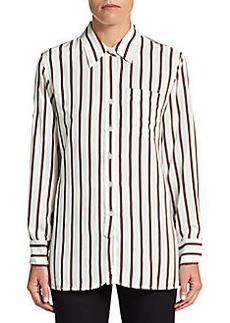 Ellen Tracy Ribbon-Striped Blouse