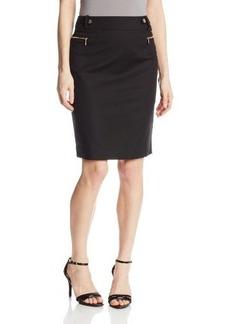 Calvin Klein Women's Safari Pencil Skirt