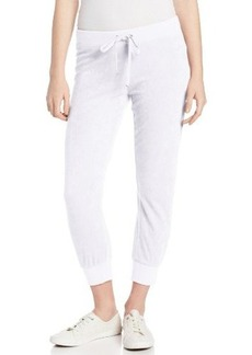Juicy Couture Women's Solid Micro Terry Slim Capri