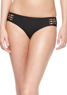 Ella Moss Swim Solid Retro Swim Bottom, Black