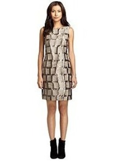 Sleeveless Jacquard Shift Dress