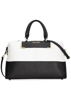 Calvin Klein On My Corner Saffiano Colorblock Satchel