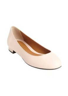 Fendi powder pink leather ballet flats