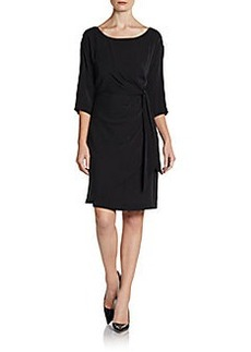 Catherine Malandrino Julissa Side Tie Woven Dress