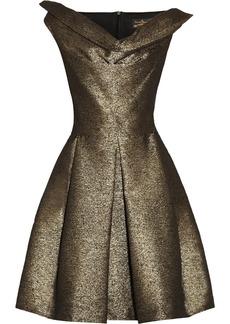 Vivienne Westwood Anglomania Halton draped metallic jacquard dress