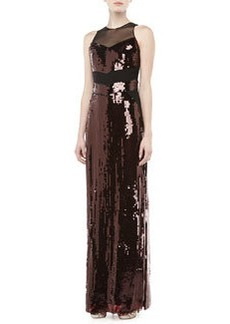 JASON WU Sequined Mesh Sleeveless Gown