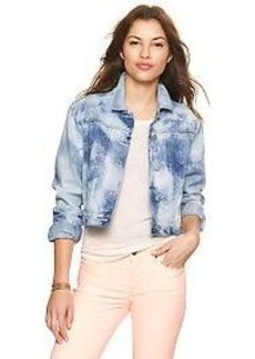 1969 bleached denim crop jacket