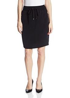 Calvin Klein Women's Solid Drawstring Skirt