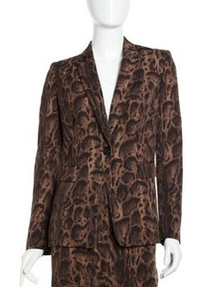 Lafayette 148 New York McKenzie Animal-Print Jacket, Espresso