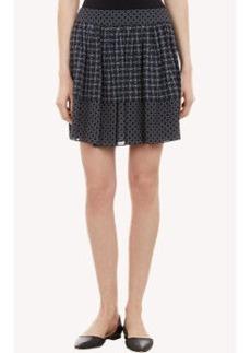 Proenza Schouler Iron-Print Silk Full Mini Skirt