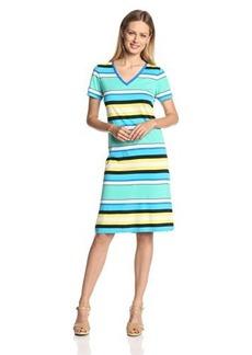 Jones New York Women's V-Neck Dress