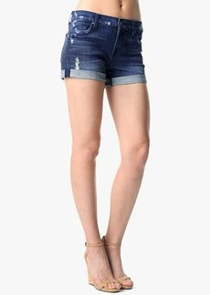 Relaxed Mid Roll Up Short in Authentic Medium Blue