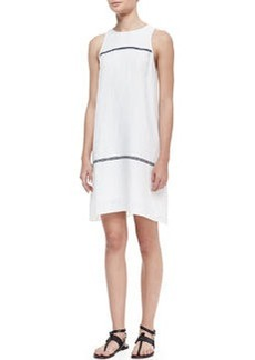 McKenzie Contrast-Stripe Sleeveless Dress   McKenzie Contrast-Stripe Sleeveless Dress