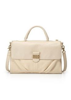Foley + Corinna Casablanca Leather Satchel Bag, Ecru