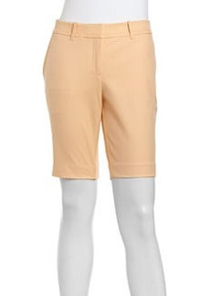 Lafayette 148 New York Stretch Twill Bermuda Shorts, Apricot