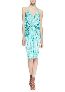 T Bags Tie-Dye Knotted Sheath Dress, Blue/White