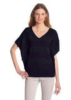 Design History Women's Stripe Jersey Dolman Sweater