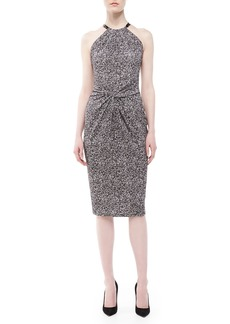 Michael Kors Herringbone Twist-Waist Dress