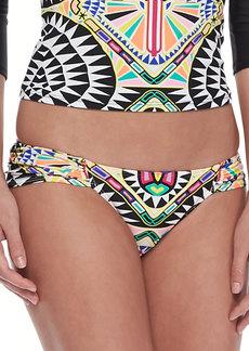 Mara Hoffman Ruched-Side Bikini Bottom
