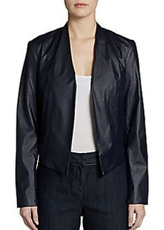 Ellen Tracy Perforated Faux Leather Jacket