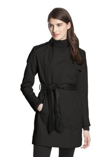 French Connection Women's Inverted-Collar Belted Trench Coat
