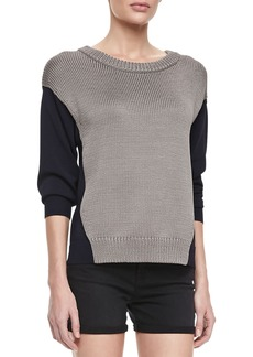 J Brand Ready to Wear Kira Two-Tone Combo Sweater