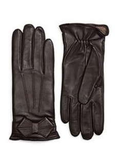 Lambskin Bow Gloves with SensorTouch®