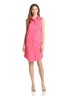 Three Dots Women's Sleeveless Shirt Dress