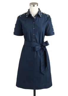Collection Thomas Mason® for J.Crew jeweled shirtdress