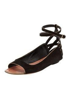 Derek Lam Hanne Strappy Peep-Toe Sandal, Black
