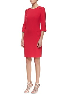 Michael Kors Stretch Boucle Button Dress, Azalea