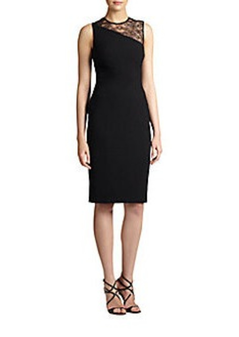 David Meister Stretch Crepe Dress