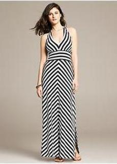 Multi-Stripe Knit Patio Dress