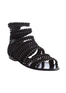 Sigerson Morrison black strappy flat sandals