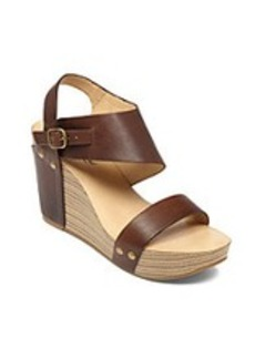 "Lucky Brand® ""Marleighh"" Wedge Sandals - Tobacco"