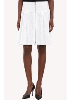 Proenza Schouler Dot-Perforated Poplin Skirt