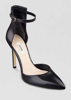 GUESS Pointed Toe D'Orsay Pumps - Abaih2 High Heel