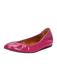 Lanvin Patent Leather Ballerina Flat, Fuchsia
