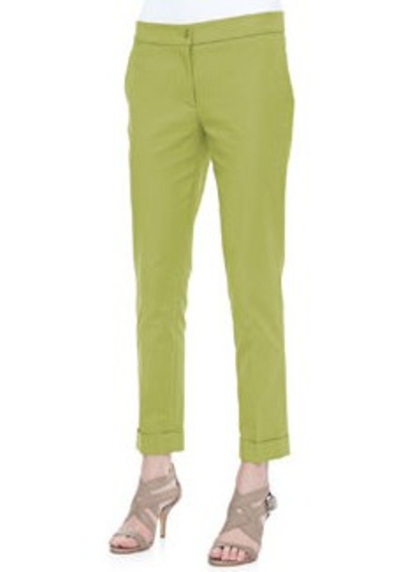 Etro Cropped Cigarette Pants, Citrine