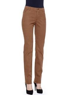 Lafayette 148 New York Basketweave-Print Curvy Slim-Leg Jeans