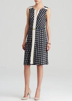 Jones New York Collection Belted Dot Print Dress