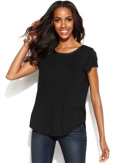 Alfani Short-Sleeve High-Low Tee