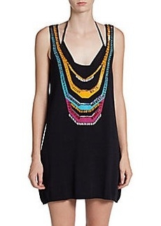 Nanette Lepore Swim Bead-Detail Racerback Tank Dress
