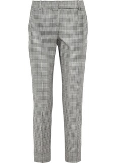 Oscar de la Renta Checked wool-blend pants