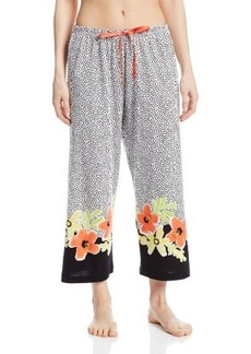 Hue Sleepwear Women's Kiana Floral Border Capri
