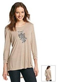 Earl Jean® Embellished Owl Top