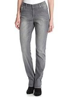 Earl Jean® Grey Floral Stitch Patch Skinny Jean