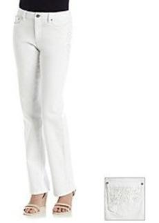 Earl Jean® Lace-Front Straight Leg Jeans